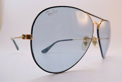 Vintage B&L Ray Ban Flying Colors sunglasses blue etched lens 62-14 made in USA
