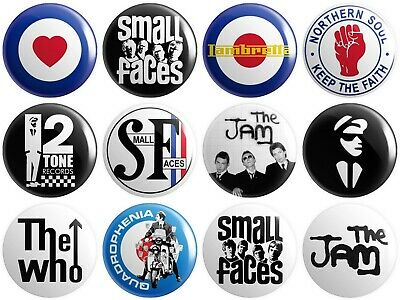 THE WHO 1 inch 25mm Button Badge Moon Townsend Weller Jam Scooter FLAG