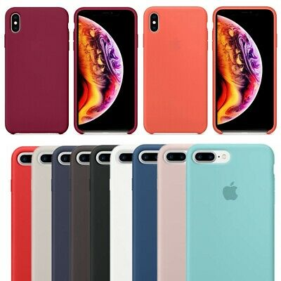 Genuine For Apple iPhone X XS Max 7 8 Plus 6 Shockproof Soft Silicone Case Cover
