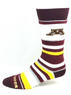 sneakers for cheap 67be2 638db Minnesota Golden Gophers For Bare Feet Women s Soft Stripe Crew-Length Socks