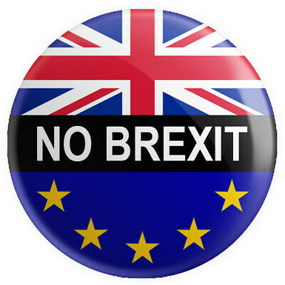 No Brexit BUTTON PIN BADGE 25mm 1 INCH Flag UK Europe Referendum