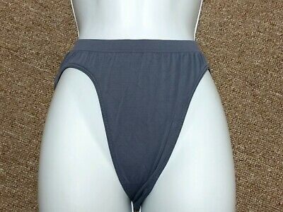 Victorias Secret Vintage Microfiber High-Cut Brief Dark Grey Small  NWOT