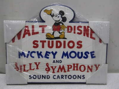 Walt Disney Studios Mickey Mouse Silly Symphony Sound Cartoons Wooden Sign