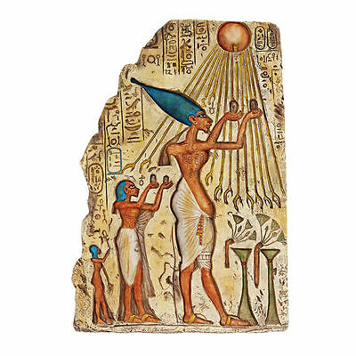 Ancient Egyptian Pharaoh Offering to Gods Egypt Museum Replica Wall Sculpture