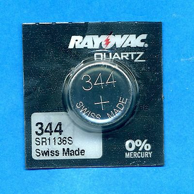 4 x 344 SR1136SW V344 D344 RW36 1.55V Silver Oxide Watch Cell Batteries Rayovac