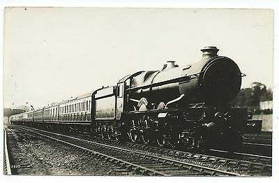 GREAT WESTERN RAILWAY - CASTLE (?) Steam Locomotive Moore Real Photo Postcard