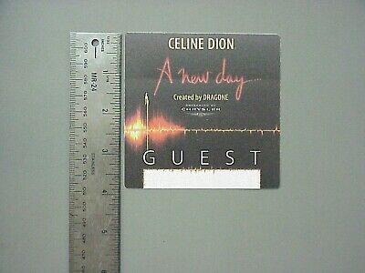 Celine Dion backstage pass Satin pass A New Day Guest pass !