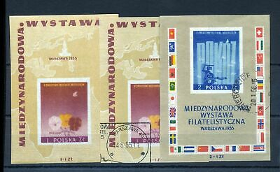 POLAND 1955 Sheets MNH &Used x 3 (st154s