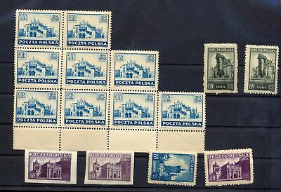 POLAND 1945 Cracow MNH (15 Stamps) (ST 124s