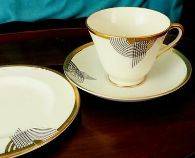 Fine Royal Doulton Art Deco TANGO Pattern Tea Cup Saucer and Side Plate