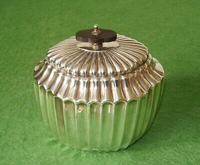 ANTIQUE TEA CADDY SILVER PLATED MAPPIN & WEBB STYLISH ELEGANT EDWARDIAN cir 1900
