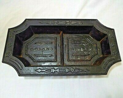 OLD Antique CAST IRON VICTORIAN  CANE UMBRELLA DRIP PAN TRAY Blake