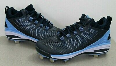 c29afee5f36 Boombah Men s Riot DPS Metal Mid Cleat Shoes Youth Size 6 Blue Navy