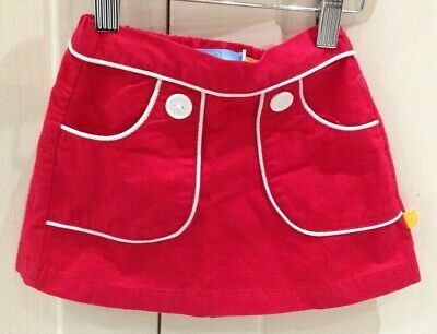 Little Bird for Mothercare Red Cotton Skirt 12-18 Months