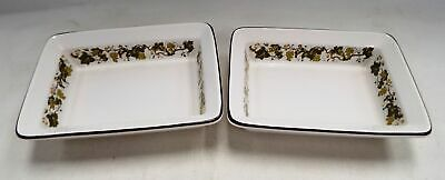 Pair Of WEDGWOOD Vine Pattern Oven To Table Small Dishes - F03