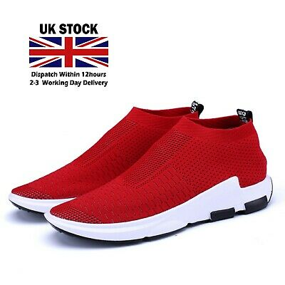 Mens Red Trainers sales Lightweight Running sport summer Shoes Outdoor Casual