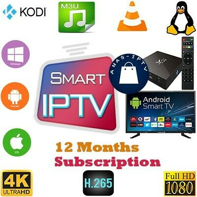 12 MONTH Smart iptv World IPTV USA Europe ASIA ARAB-Smart TV, MAG, M3U 1 year