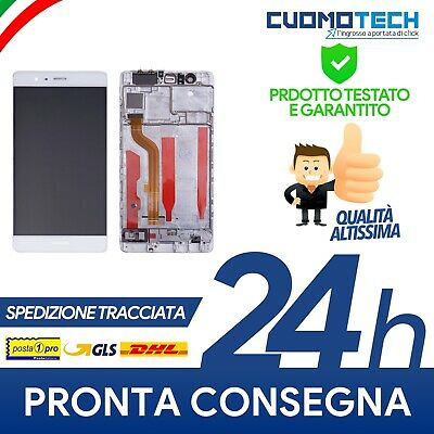 Display Schermo Vetro Lcd Huawei Frame Touch Screen P9 Eval-09 Bianco