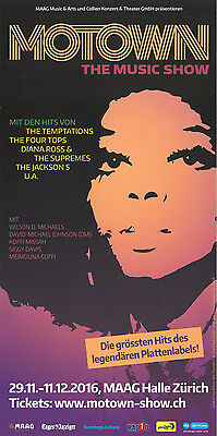 Motown - The Music Show - Live In Zürich - Original Flyer