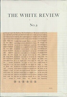The White Review - Issue 2 - Arts & Literature