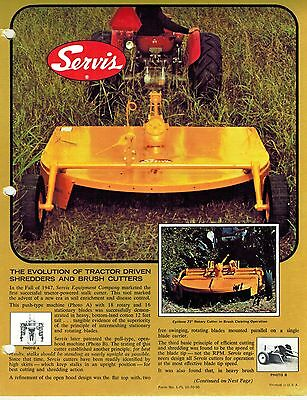 SERVIS SATURN 6 Rotary Mower & Shredder Dealer's Brochure