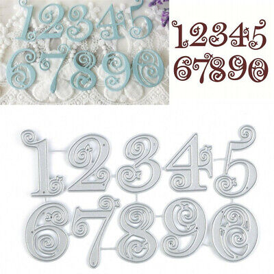 Lace Numbers 0-9 Metal Cutting Dies Stencil Scrapbooking Embossing Card Craft