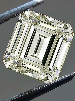 2.82 ct VVS1/8.80mm OFF WHITE COLOR EMERALD LOOSE MOISSANITE DIAMOND 4 RING