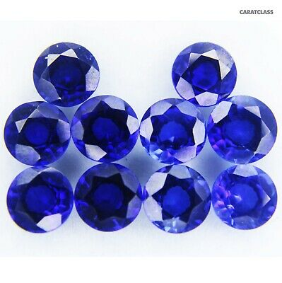 10.00 Ct Natural Blue Sapphire Origin Ceylon ROUND Shape Ggl Certified