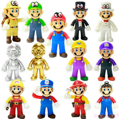 Super Mario Odyssey Golden Mario Luigi Yoshi Wario Action Figure PVC Toy Model 1