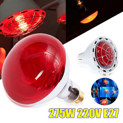 275W Infrared Heat Lamp Bulb For Therapy Health Pain Relief Therapeutic Lamp AU
