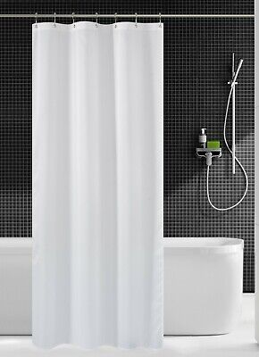 36 Inch Stall Shower Curtain Fabric Water Repellent Washable Mildew Resistant