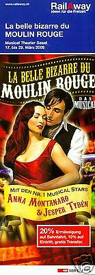 La Belle Bizarre Du Moulin Rouge - 2009 - Musical - Original Flyer