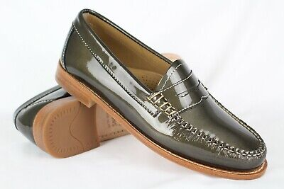 4ae45c30c682b9 GH Bass Weejuns Women s Whitney Penny Loafers Size 6m Patent Metallic Bronze