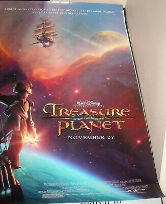 Rolled Walt Disney Treasure Planet Advance 1 Sheet Movie Poster 2 Sided Animated