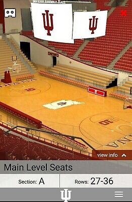 2 INDIANA HOOSIERS vs WISCONSIN BADGERS Mens Basketball Tickets w/ Parking Pass