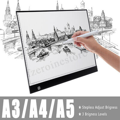 A3 A4 A5 LED Ultra Slim Art Craft Drawing Copy Tracing Light Box Pad Board Panel
