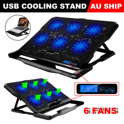"Laptop Cooler Pad USB 6 Fans CPU Cooler Radiator Cooling Stand for 14-17"" Laptop"