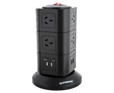 Safemore 3 Level Power Stackr Power Board in Black