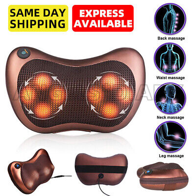 8 Heads Neck massager back massager Body massage Cushion shiatsu Pillow Car/Home