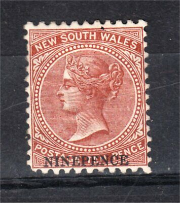 NEW SOUTH WALES MINT 9D SURCHARGE ON 10d BROWN (H45)