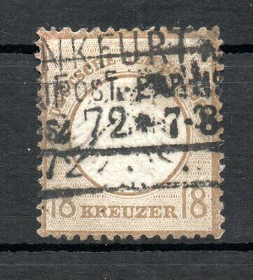 GERMANY , DEUTSCHES REICH , 1872 , scarce 18 Kreuzer EX FIRST SET , USED !