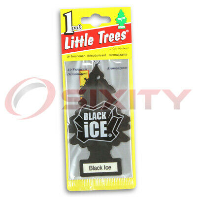 Little Trees Car Home Office Hanging Air Freshener Black Ice (1 Pack) vz