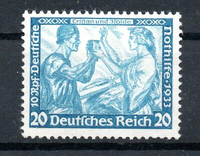 GERMANY , DEUTSCHES REICH , 1933 , scarce 20 PFENNIG WAGNER , perf 14 , MH
