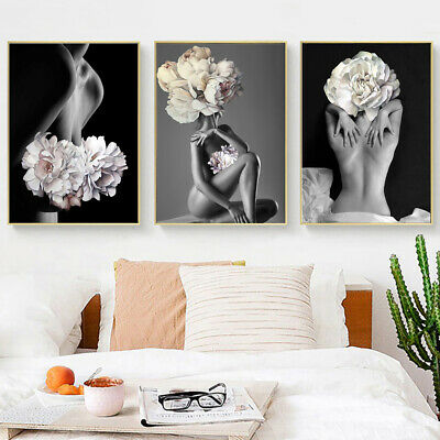 Nordic Naked Women Canvas Wall Painting Poster Picture Art Home Decor Faddish