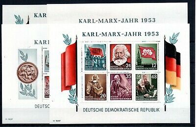 GERMANY , GDR , 1953 , KARL - MARX - YEAR , scarce S/S set of FOUR , MNH !