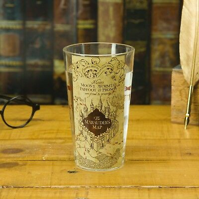 Magico Mago Harry Potter Hogwarts Marauders Map Acqua Vetro