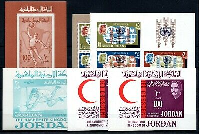 JORDAN , 1963 , 1964 , 1965 , five ONLY BETTER S/S , MNH !