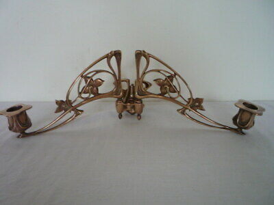 Antique French Art Nouveau Pinet Candlestick Candle Holder Wall Sconce Piano