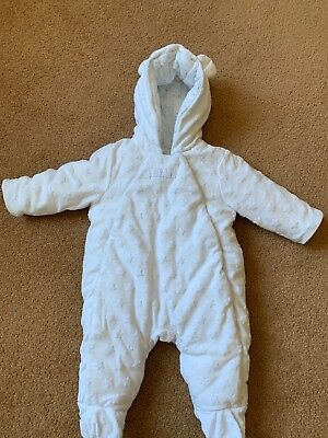White Baby 0-3 Month Snow Suit Mini Club (boots) Boy/ Girl