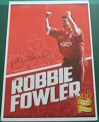 Robbie Fowler Signed Liverpool Large Photo Autograph COA AFTAL